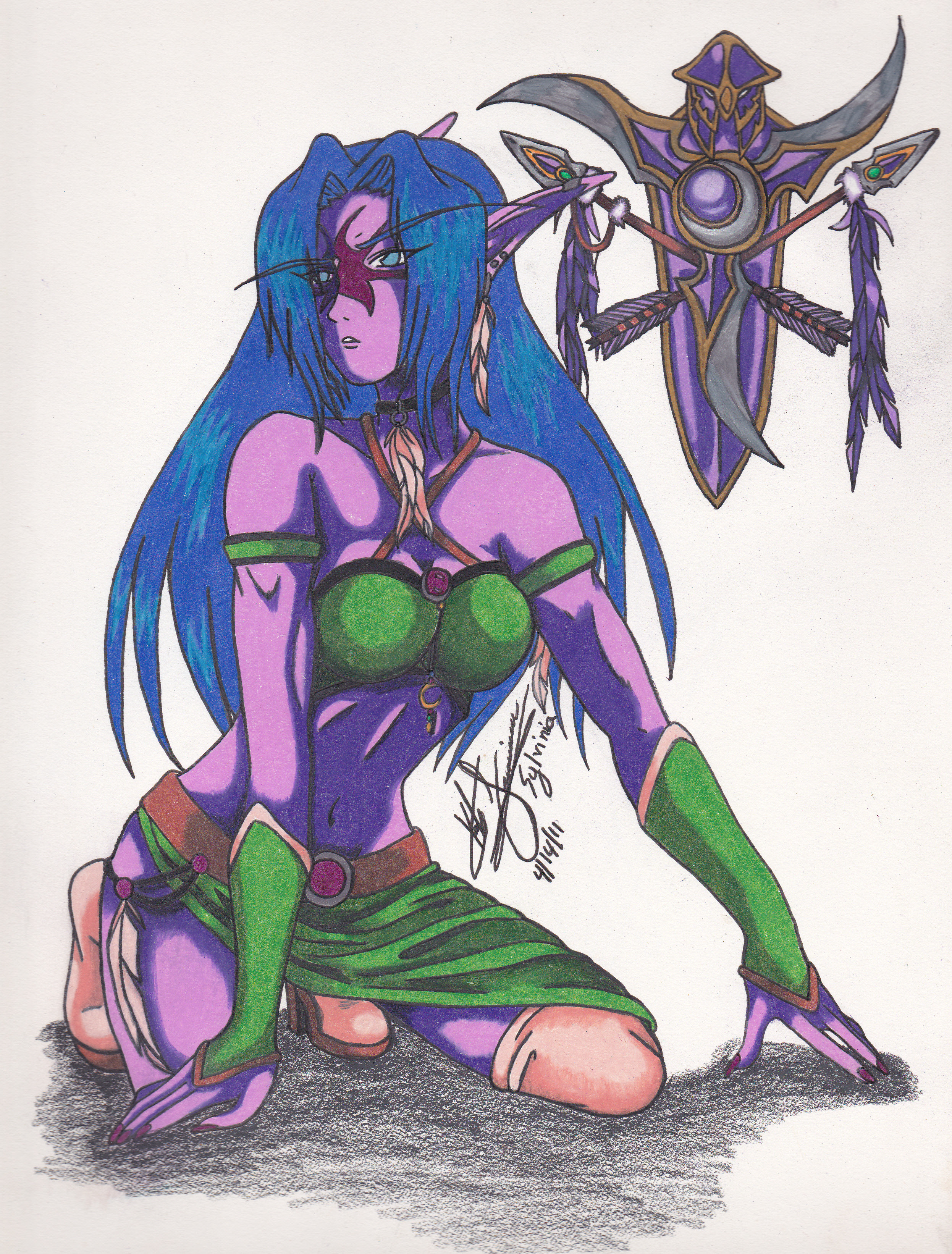 Kayisia -Night Elf Druid- by Syla-chan