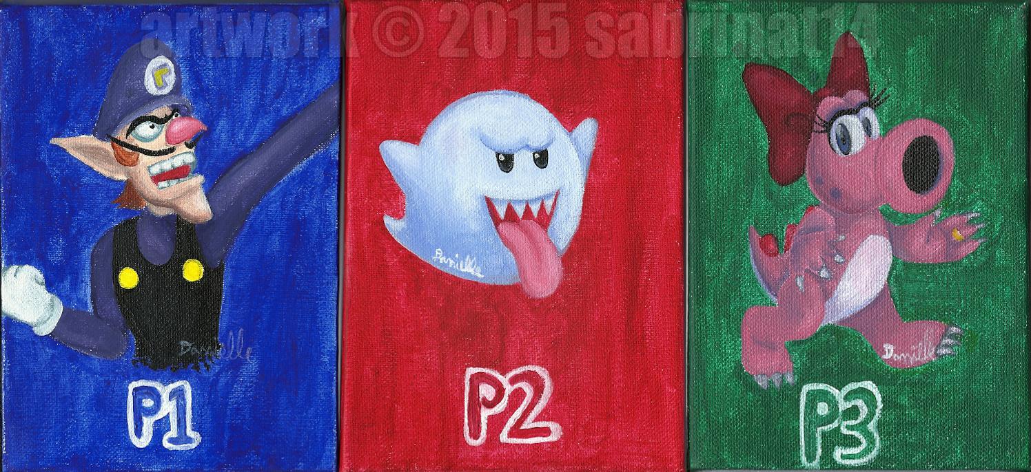 Waluigi, Boo, and Birdo by sabrinat14