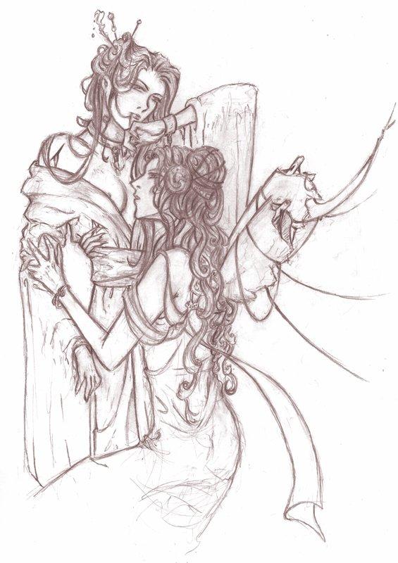 Women Sketch by saiyaku
