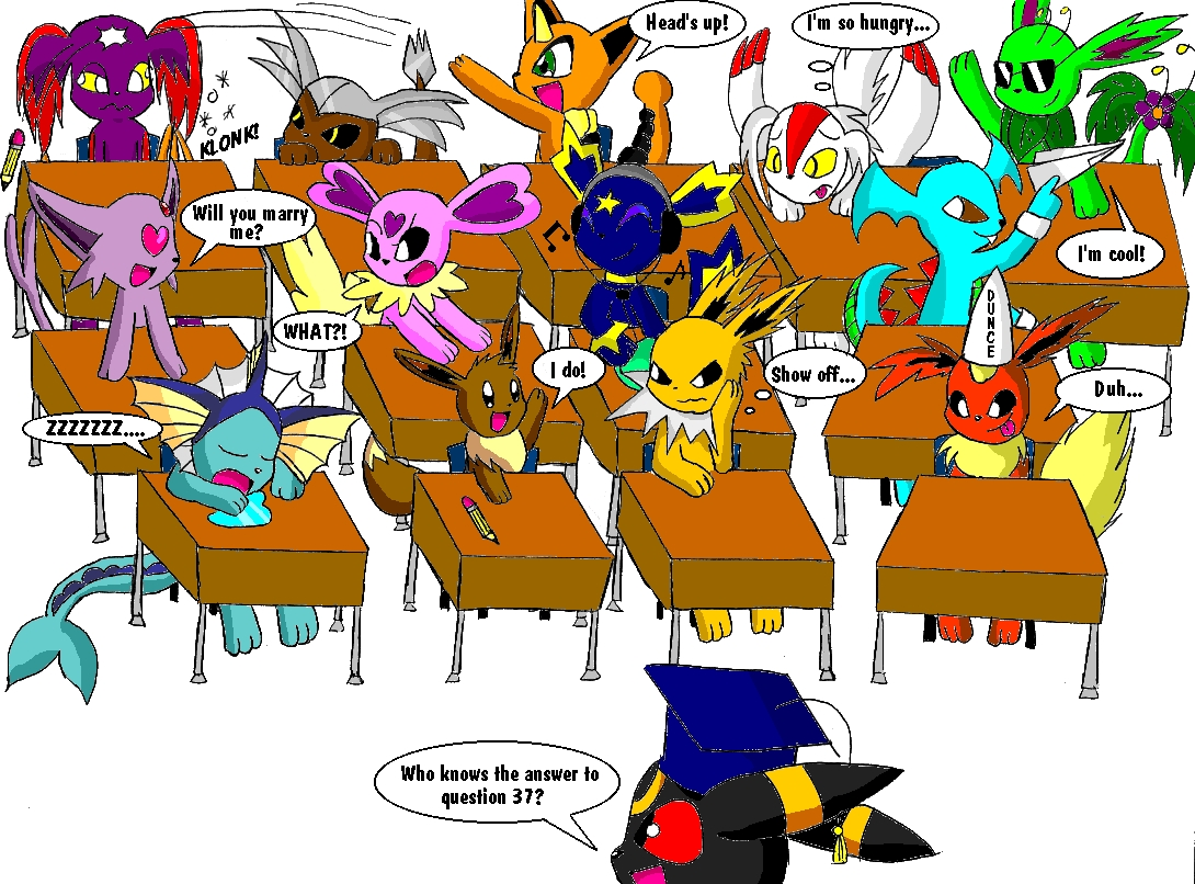 "Prof. Umbreon''s ""Gifted"" Class (contest entry) by sapphirestar7789"
