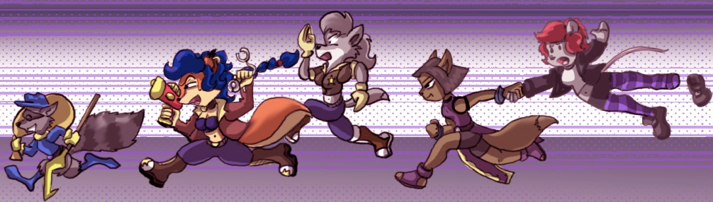 Sly Cooper Chibi Chase by saruon_sama