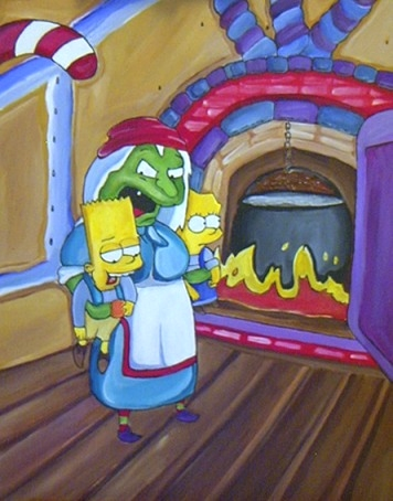 Bart and Lisa Horror by satur9