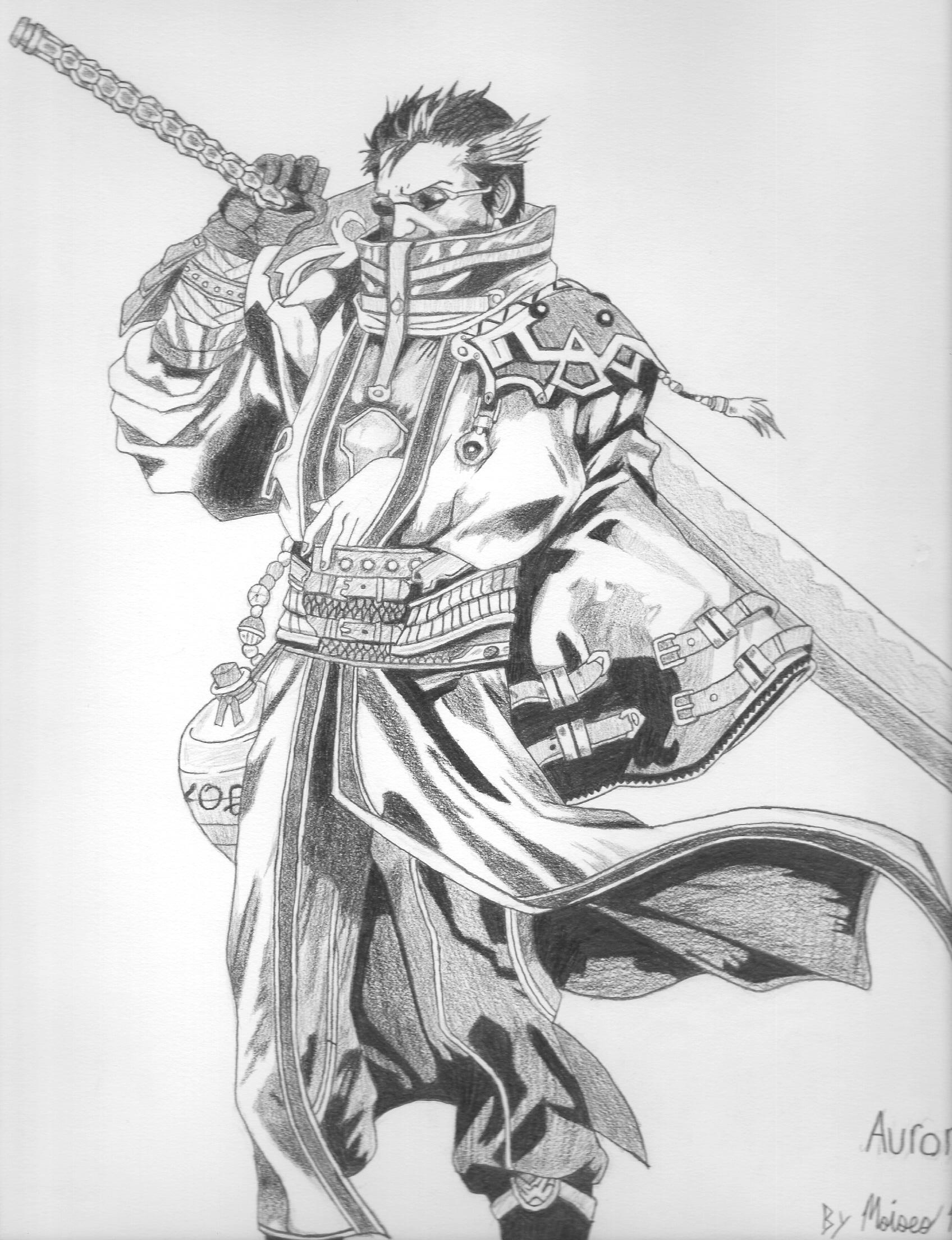 auron drawing by sesiom