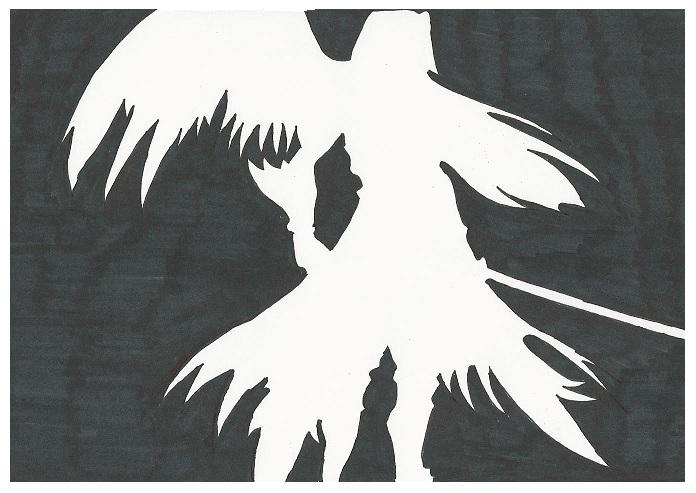 Sephiroth silhouette by setzaroth