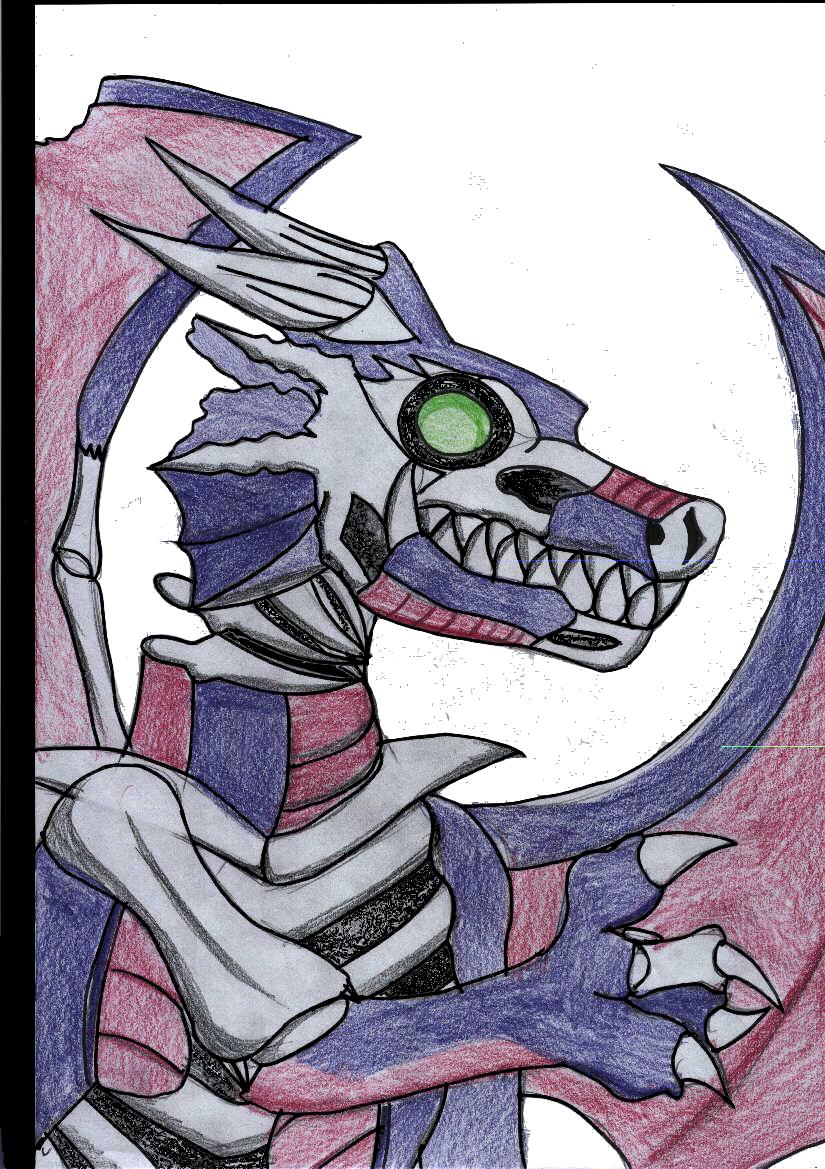 zombie dragon requested by silverliger by shadow_wolfie