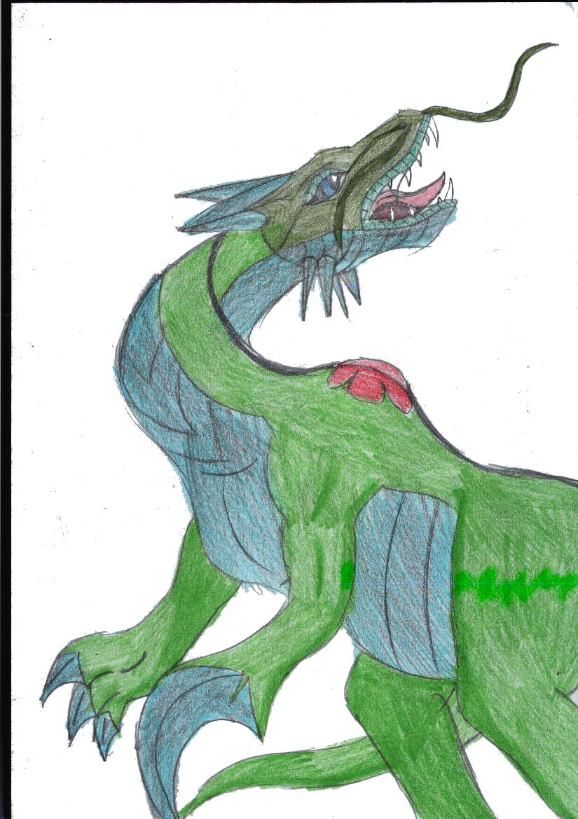 green dragon requested by bullsnake by shadow_wolfie