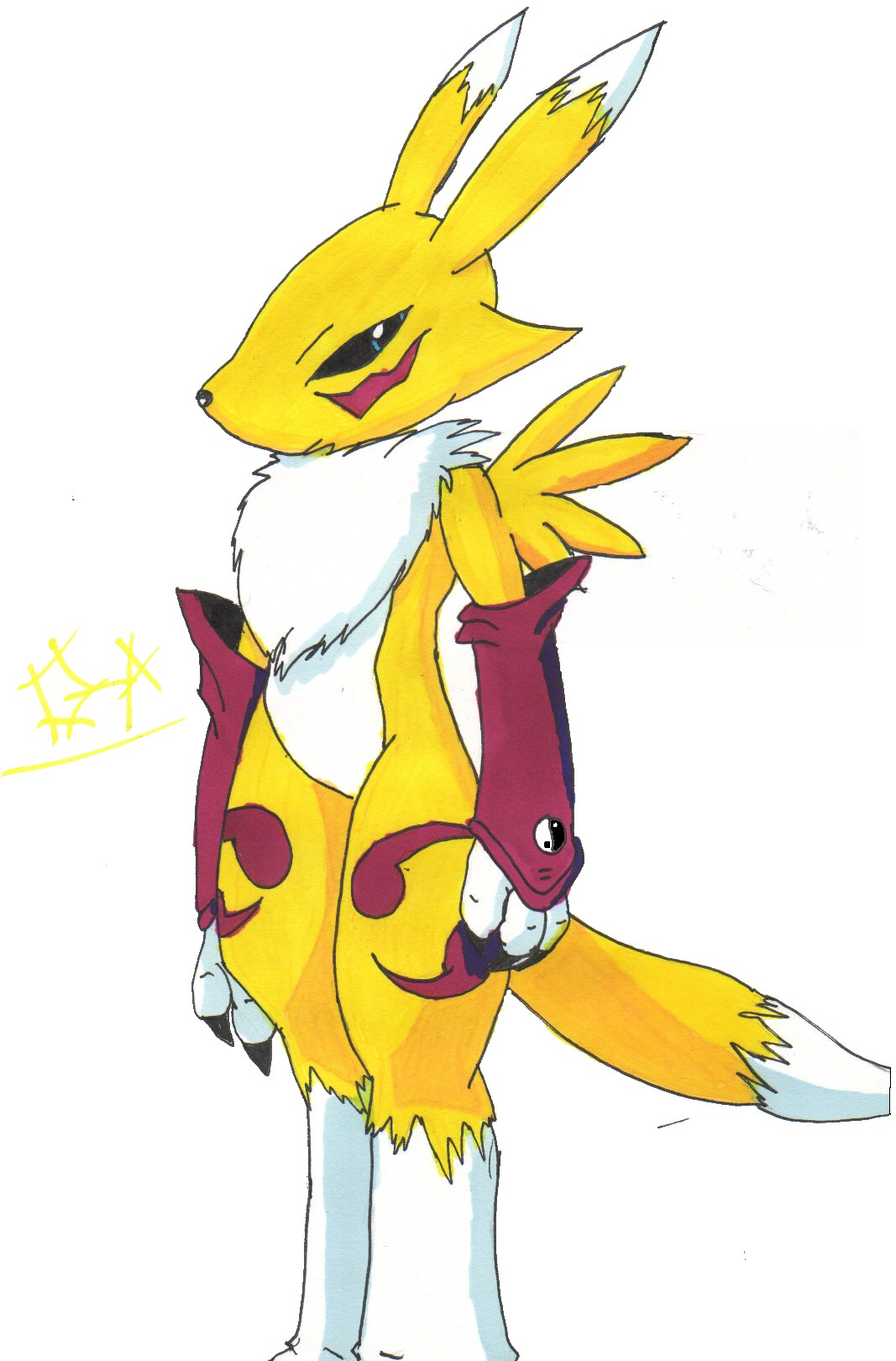 first try at renamon by shadow_zero222