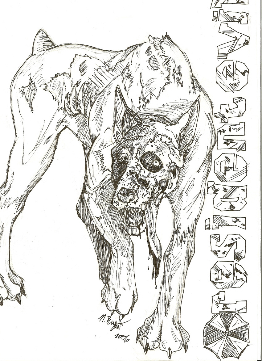 Zombie Dog by shadowqueezy