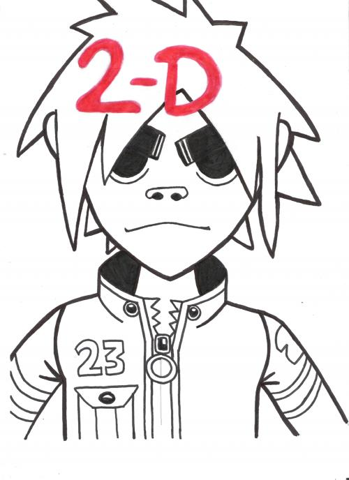 First eva pic of 2-D- uncoloured by shadowrulesdaworld