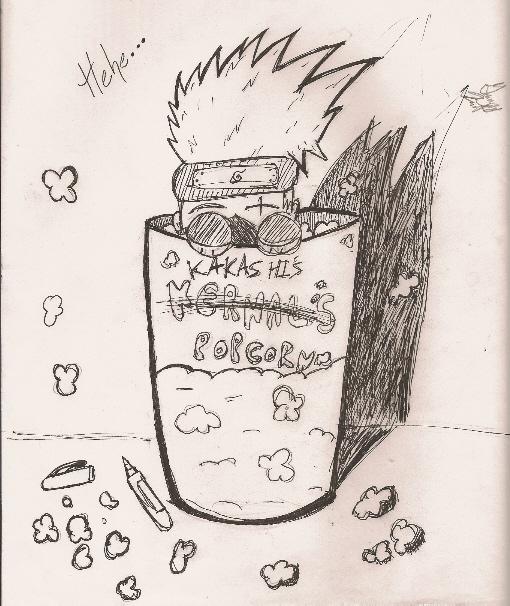 Kakashi's Popcorn ^_^ by sharingan_sisters125