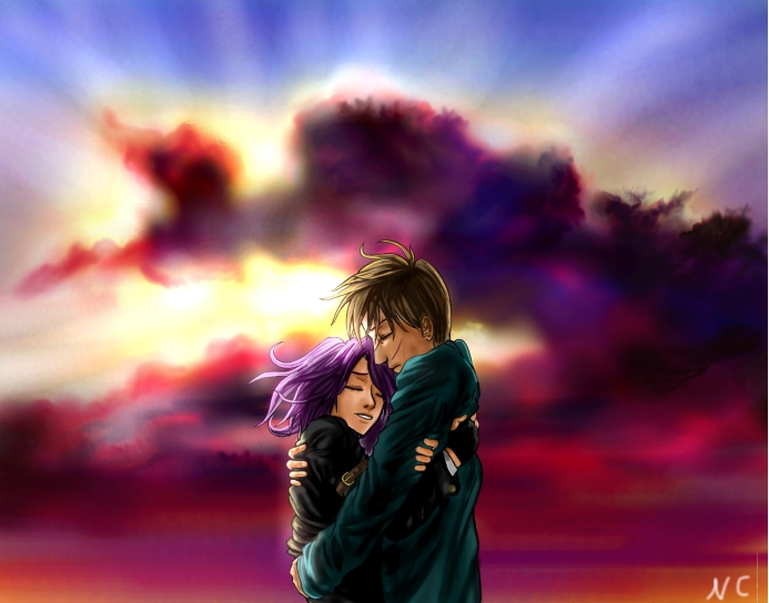 Tonks and Lupin by sheyla