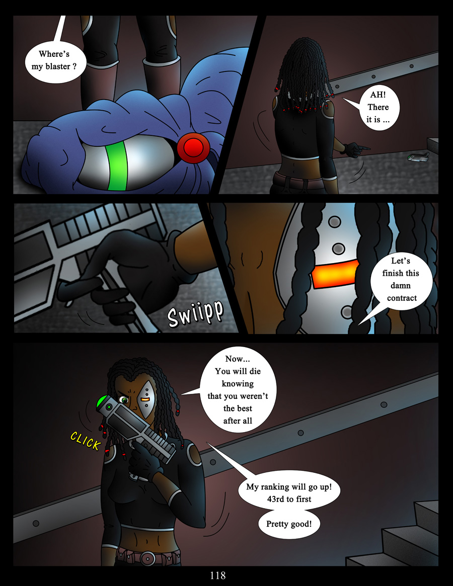 akacya the bounty hunter page 118 by shinka