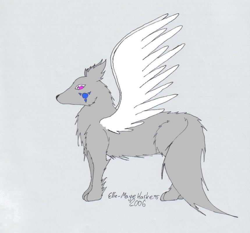 Winged Kitsune by shipp_shippo