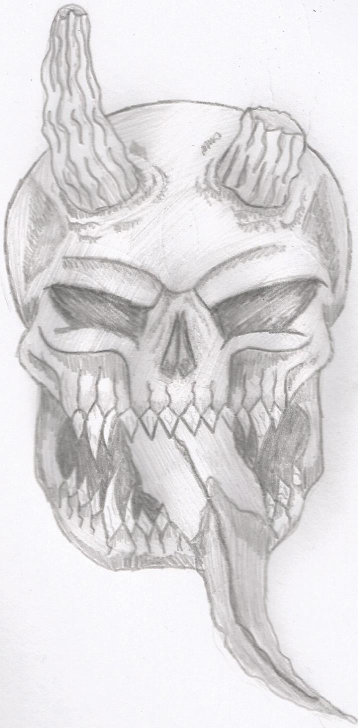demon skull by sho-white