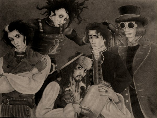 The Many Faces of Johnny Depp by showeroses