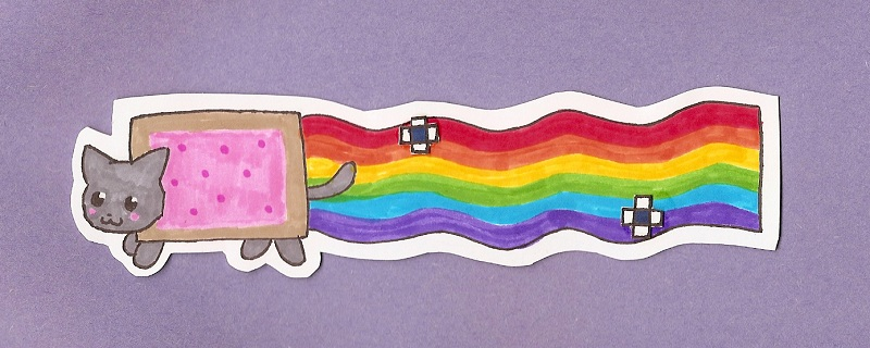 Nyan Cat bookmark by silly_rules
