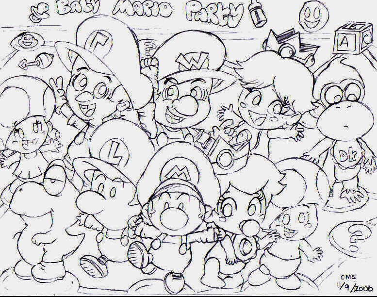 Baby Mario Party by sillysimeongurl