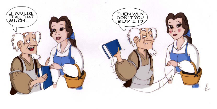 Belle and the Bookseller by silver-lady