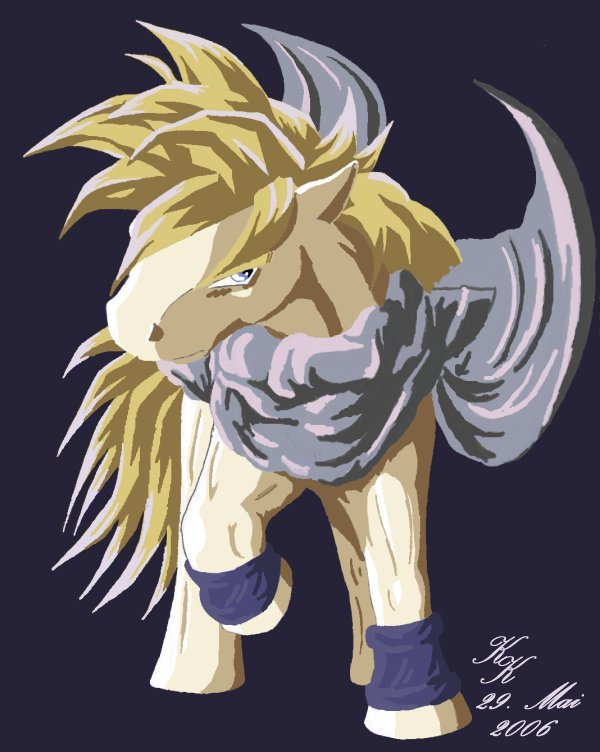 son gohan MLP by silver_dragicorn