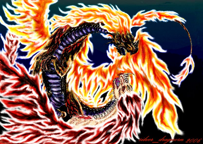 eyed firedragons (colourversion 2) by silver_dragicorn