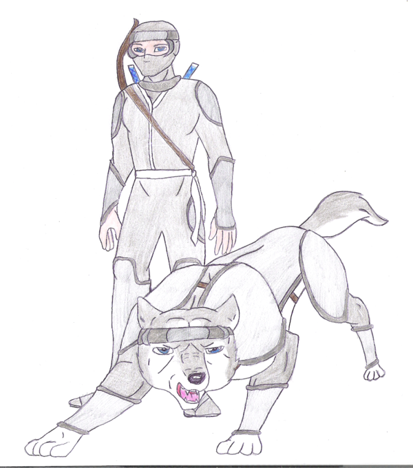 Ryoushi and Kaze by silvereye