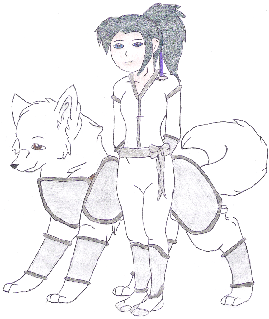 Umi and her dog partner by silvereye