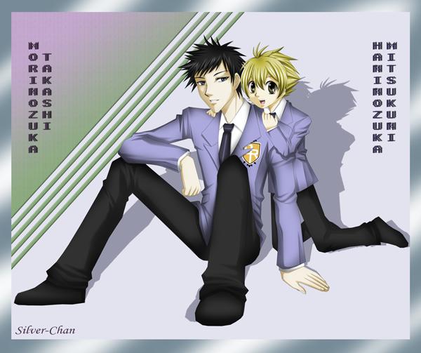 Hunny and Mori-senpai by silverstar