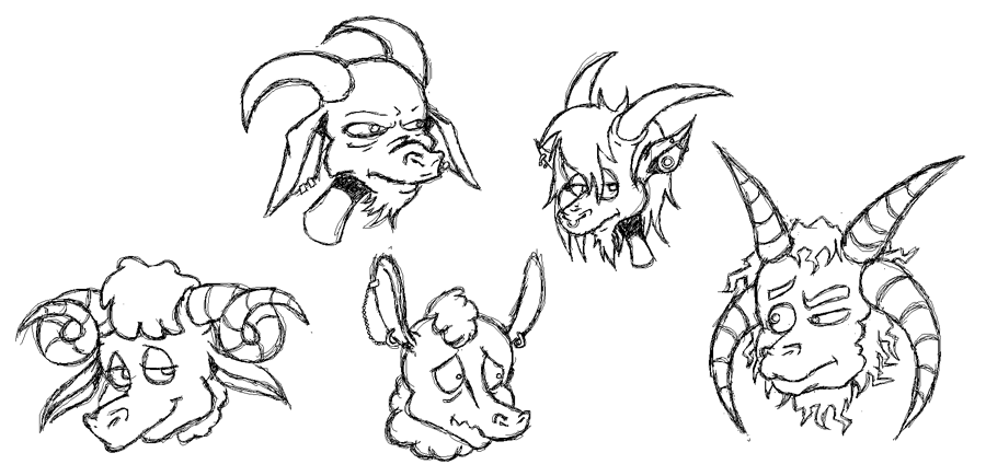 Horny creatures by sirflammingofcorn