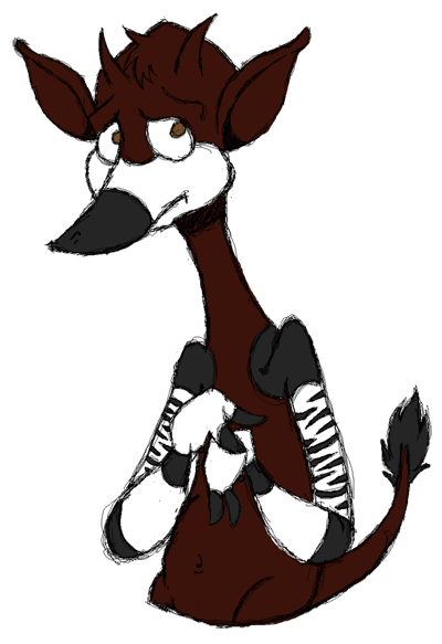 Nervous okapi by sirflammingofcorn