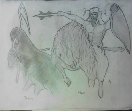4 horsemen (death and war) by smokeybandit1