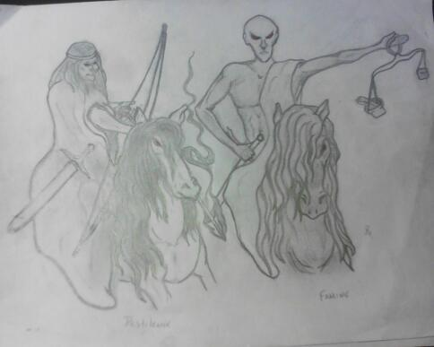 4 horsemen (pestilence and famine) by smokeybandit1