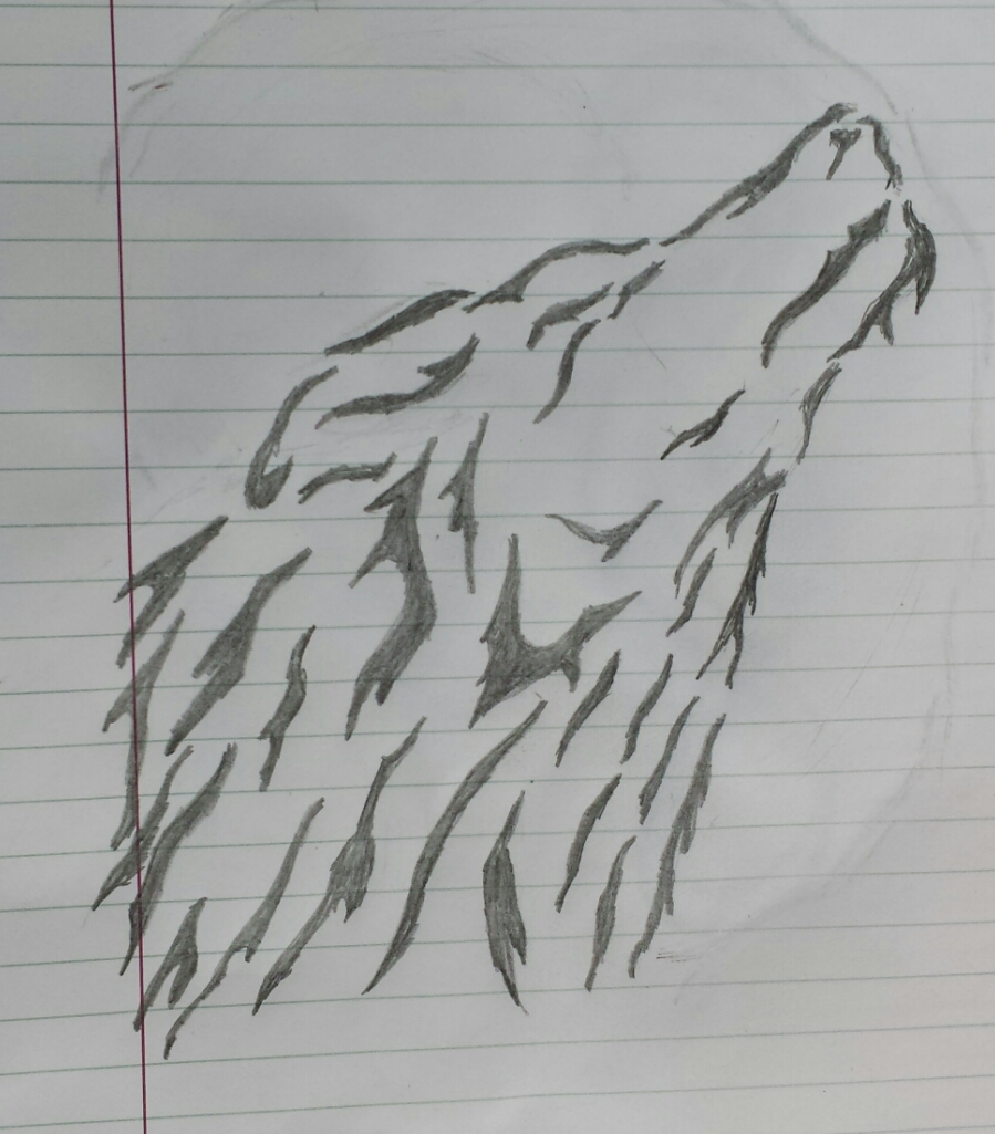 tribal wolf tattoo design by smokeybandit1