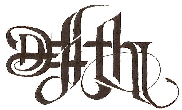 life death ambigram tattoos. Black Bedroom Furniture Sets. Home Design Ideas