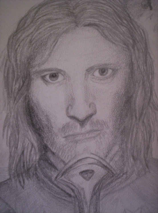 portrait of aragorn by songofthelioness