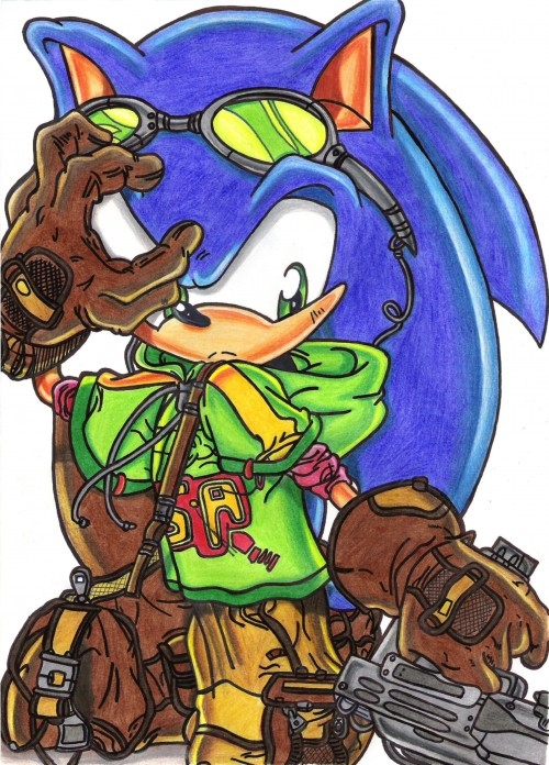 sonic gun detailed(colored) by sonicknuxfans