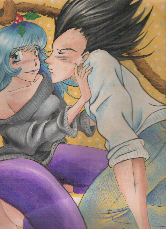 Holidays: Bulma and Vejita by spicysteweddemon