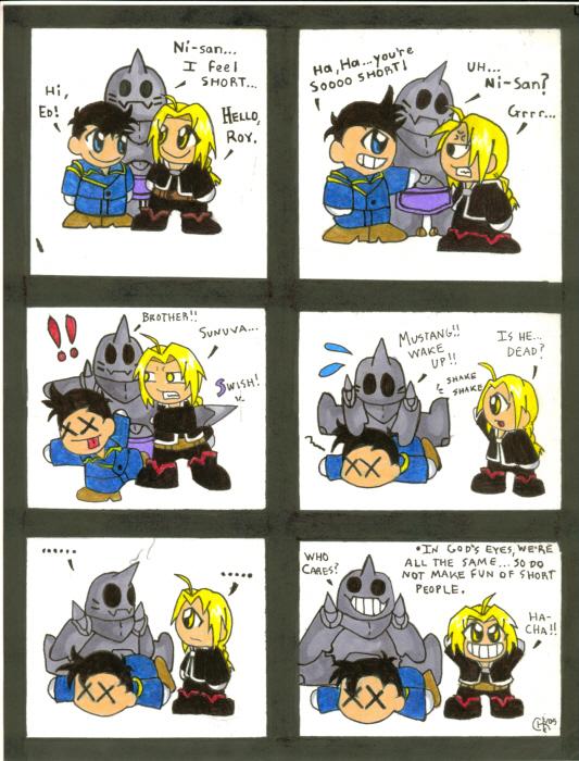 Retarted FMA Chibi Comic!! by spyderhawk75