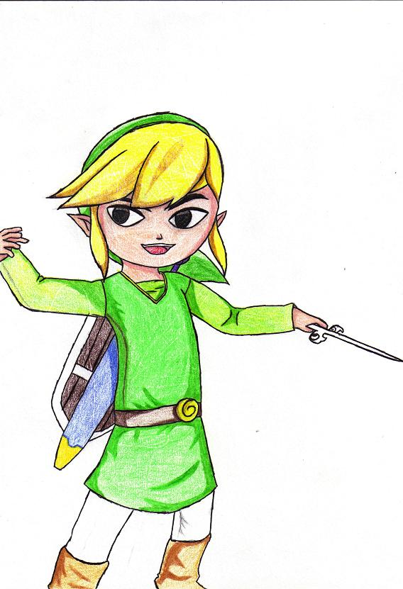 Toon Link! by steppingxlxintoxlxdarkness