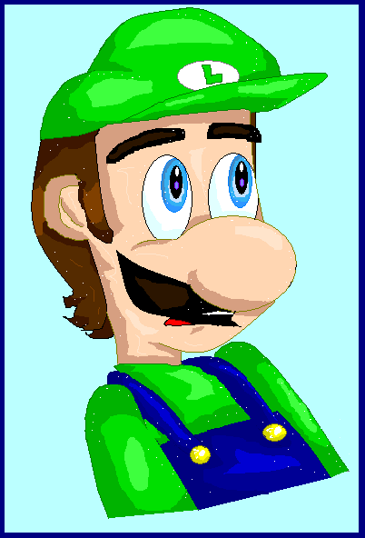 Frightened Luigi by stinkulousreddous