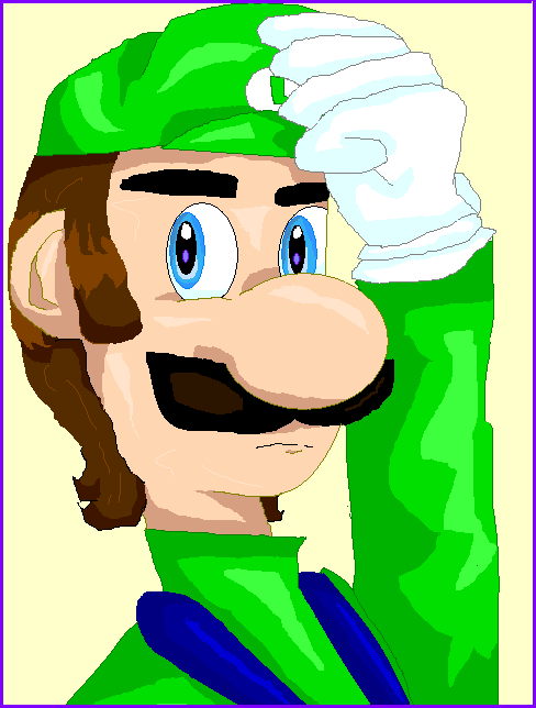A Slightly Unrealistic Luigi by stinkulousreddous