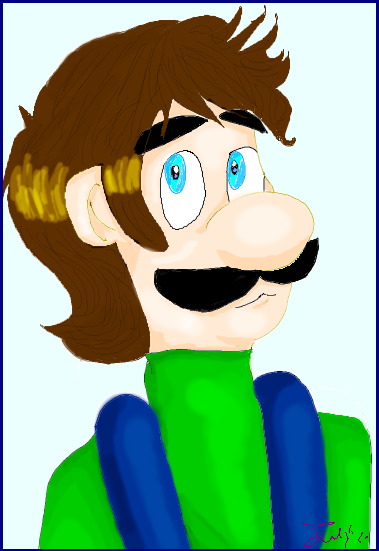 A Hatless Luigi by stinkulousreddous