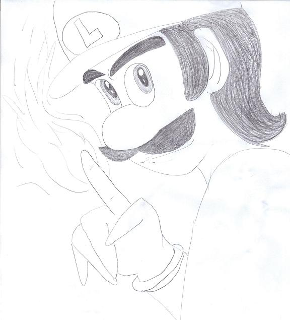 Luigi the Flamer by stinkulousreddous