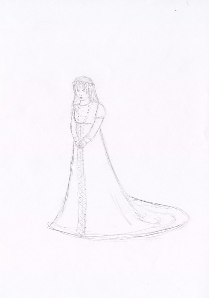 violet Baudelaire as bride for   lemonysnicketlove by stippie