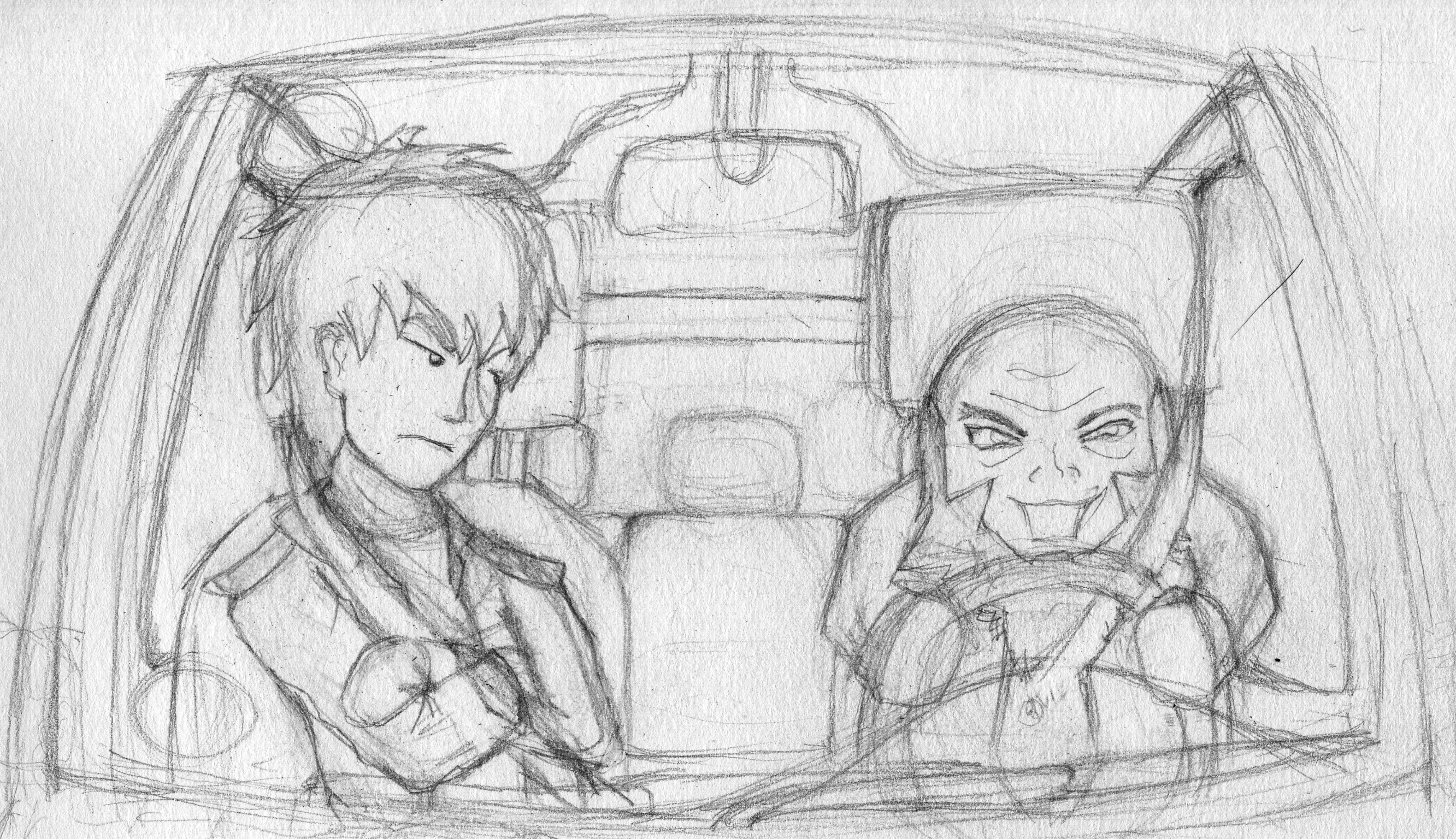 Iroh and Zuko's road trip by storm-of-insanity