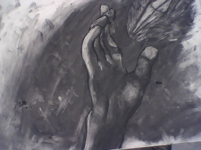 Vine Charcoal Hand by sweetXcatastrophe