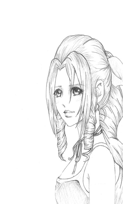 Aerith for killerrabbit05 by Takahashi2Oki