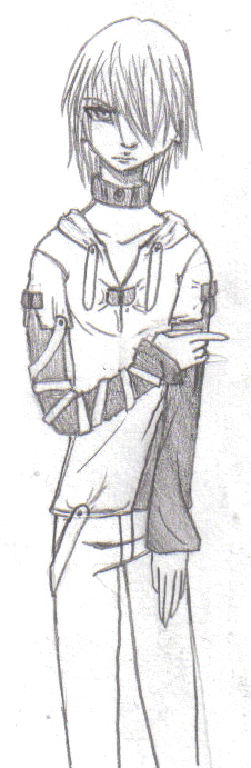 Galerians 3 outfit sketch by Takimi