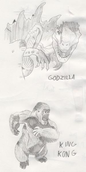 King Kong and Godzilla by TapeJara