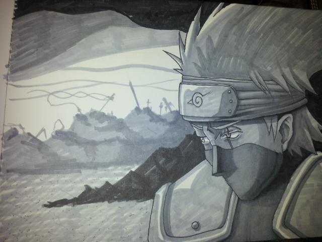 Kakashi Sketch by Task002