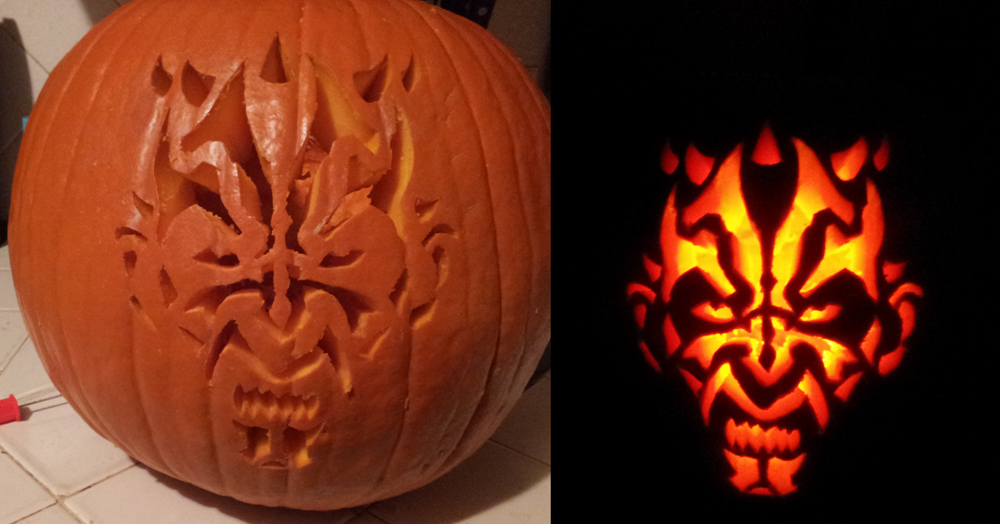 Darth Maul Pumpkin by Task002